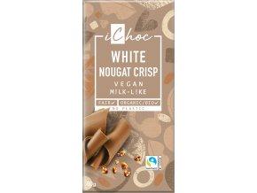 Bio vegan bílý nugát s oříšky iChoc 80 g