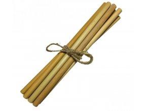 Mobake Bambusové brčko nebalené - bez nápisu (10 ks) z udržitelně pěstovaného bambusu