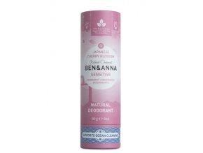 Ben & Anna Tuhý deodorant Sensitive (60 g) - Třešňový květ