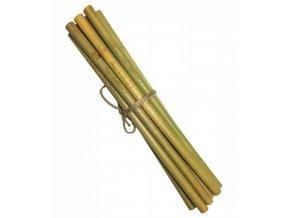 Mobake Bambusové brčko nebalené - s nápisem (10 ks) z udržitelně pěstovaného bambusu