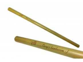 Mobake Bambusové brčko nebalené - s nápisem (1 ks) z udržitelně pěstovaného bambusu
