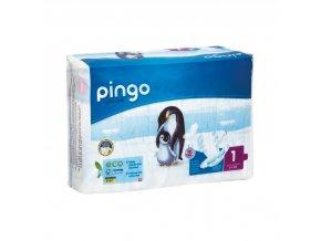 Jednorázové ekologické pleny pro děti BIO č. 1: 2-5 kg 27 ks Pingo