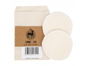 Odličovací tampony pratelné 2 kusy z Bio bavlny a bambusu SRNECZEK