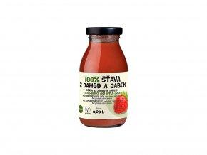 Šťáva 100% jahodovo-jablková 0,2 l