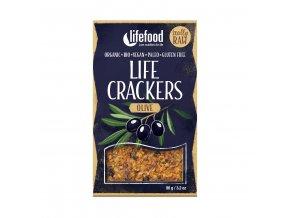 Life Crackers olivové 90 g BIO LIFEFOOD