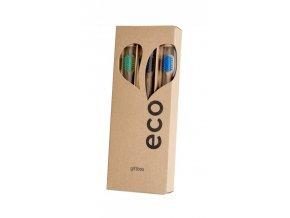 Ecoheart Giftbox - dárkové balení bambusových kartáčků (var. 3) (3 ks)