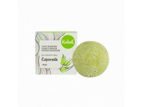 Kvitok Tuhý šampon s kondicionérem pro mastné vlasy Čajovník XXL (50 g)