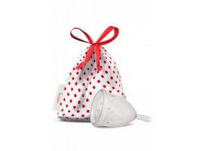 LadyCup Menstruační kalíšek - transparentní - malý (S)
