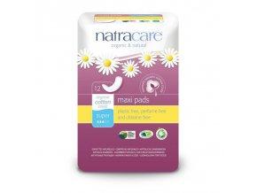 NATRACARE Menstruační vložky Maxi SUPER bez křidélek 12 ks