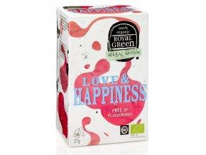 Royal Green bylinný čaj Love & Happiness BIO 16 x 1,7 g