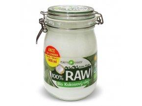 PURITY VISION RAW kokosový olej BIO 900+100 ml