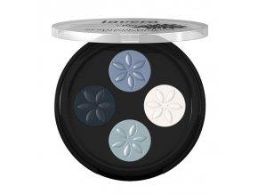 lavera Minerální oční stíny QUATRO - 07 modrá platina 3,2 g