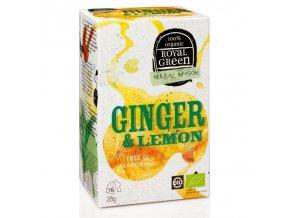 Royal Green zázvorový čaj Ginger & Lemon BIO 16 x 1,8 g