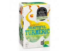 Royal Green bylinný čaj Beautiful Turmeric BIO 16 x 1,7 g