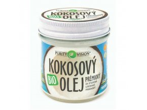 PURITY VISION TESTER Kokosový olej panenský BIO 100 ml+20% zdarma
