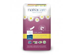 NATRACARE Menstruační vložky Maxi NIGHT TIME bez křidélek 10 ks