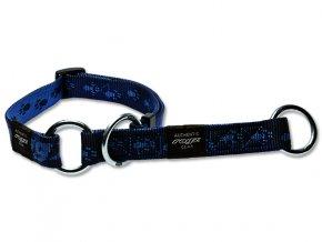 Obojek pro psa nylonový polostahovací - Rogz Alpinist - modrý - 2 x 34 - 56 cm