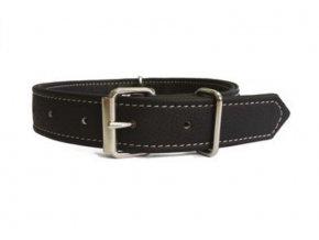Obojek pro psa Argi z eko kůže - černý - 1,5 x 37 cm
