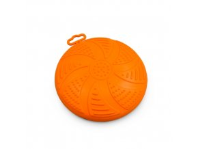 Frisbee - létající talíř Argi - gumový - oranžový - 17 cm