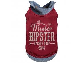 Tričko pro psa s límečkem Milk&Pepper - červené - 15 cm