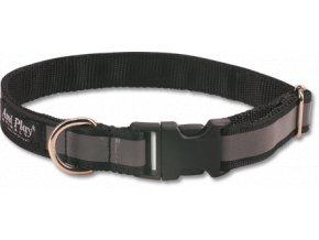 Obojek pro psa nylonový reflexní - černý - 2 x 35 - 50 cm