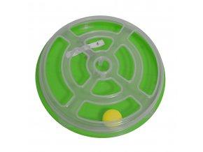 Hračka pro kočku - kruh s míčkem Argi - 29 x 5 cm - zelená