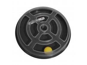 Hračka pro kočku - kruh s míčkem Argi - 29 x 5 cm - černá