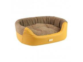 Pelech pro psa Argi oválný - Morgan - žlutý - 73 x 64 x 22 cm