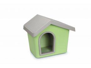IMAC Bouda pro psa plastová - zelená - D 72,2 x Š 61,8 x V 62,3 cm