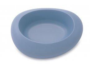 IMAC Designová miska pro psa plastová 2000 ml - modrá - D 34,5 x Š 27 x V 8,5 cm