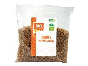 Nudle pšeničné celozrnné vlasové 300 g BIO BIOHARMONIE