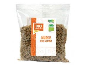 Nudle žitné celozrnné vlasové 300 g BIO BIOHARMONIE