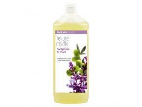 Mýdlo tekuté Levandule - Oliva náplň 1000 ml SODASAN
