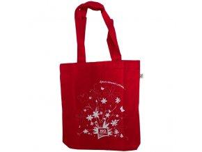 Plátěná taška z BIO bavlny červená (bioharmonie)