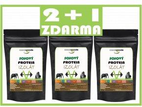 Sójový protein izolát 2+1 ZDARMA (1800 g) Cocowoods