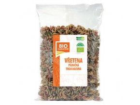 Vřetena pšeničná celozrnná trojbarevná 400 g BIO BIOHARMONIE