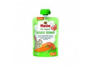 Zeleninové pyré - mrkev, batát, hrášek BIO pro děti 100 g Holle
