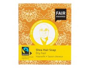 Šampon tuhý na mytí vlasů – karité pro suché vlasy 2x80 g FAIR SQUARED
