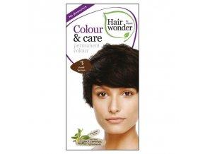 Hairwonder Dlouhotrvající barva BIO TMAVÁ HNĚDÁ 3 100 ml