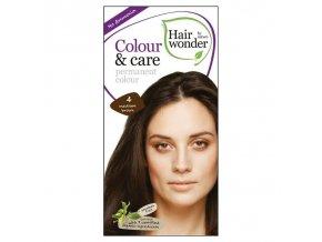 Hairwonder Dlouhotrvající barva STŘEDNĚ HNĚDÁ 4 100 ml