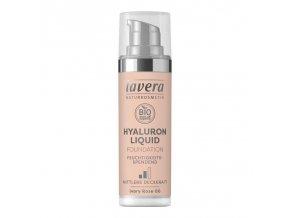 lavera Lehký tekutý make-up s kyselinou hyaluronovou - 00 slonová kost 30 ml