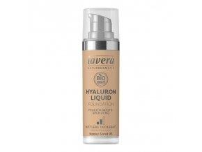 lavera Lehký tekutý make-up s kyselinou hyaluronovou - 03 medová 30 ml