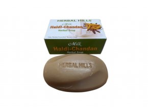 Rostlinné mýdlo - santal, mléko a kurkuma 100g