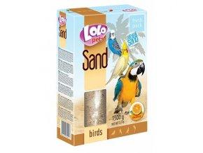 LOLOpets pomerančový písek pro ptáky 1500 g