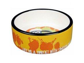 Ovečka Shaun keramická miska 0,8 l/16 cm, oranžová - DOPRODEJ