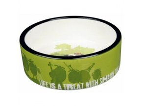 Ovečka Shaun keramická miska 0,8 l/16 cm, zelená - DOPRODEJ