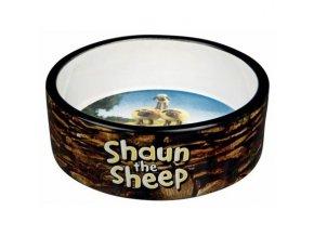 Ovečka Shaun keramická miska 0,8 l/16 cm, hnědá - DOPRODEJ