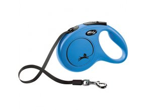 Flexi New Classic M pásek 5 m, max. 25 kg, - modrá