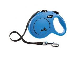 Flexi New Classic L pásek 5 m, max. 50 kg, - modrá