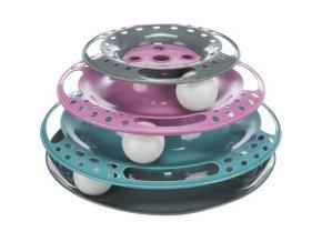 Kruhová věž/bubínek s míčky 25 cm x 13 cm